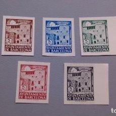 Sellos: ESPAÑA- 1945 - BARCELONA - EDIFIL 42/46 S - SIN DENTAR - SERIE COMPLETA - MNH** - NUEVOS - VALOR 42€. Lote 163985202