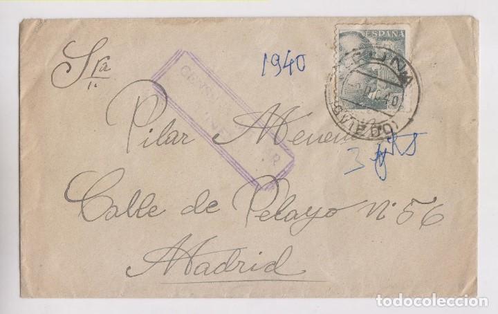 SOBRE. TUÑA, TINEO, ASTURIAS. 1940. CENSURA MILITAR (Sellos - España - Guerra Civil - De 1.936 a 1.939 - Cartas)