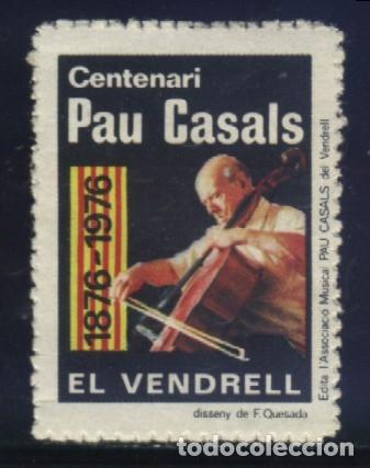 S-3765- EL VENDRELL (TARRAGONA) CENTENARI PAU CASALS. 1876. (Sellos - España - Guerra Civil - Viñetas - Nuevos)