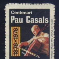Sellos: S-3765- EL VENDRELL (TARRAGONA) CENTENARI PAU CASALS. 1876.. Lote 164786134