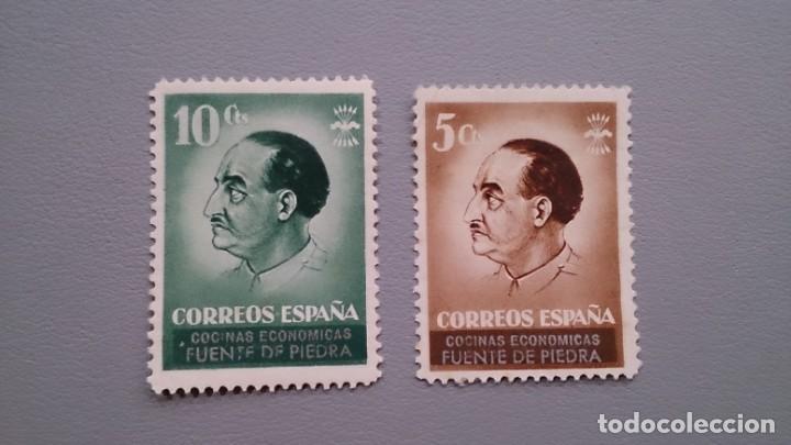ESPAÑA - GUERRA CIVIL - VIÑETAS - COCINA ECONOMICAS - FUENTE DE PIEDRA - MH*- NUEVOS. (Sellos - España - Guerra Civil - De 1.936 a 1.939 - Nuevos)
