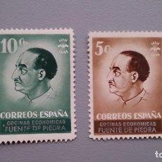 Sellos: ESPAÑA - GUERRA CIVIL - VIÑETAS - COCINA ECONOMICAS - FUENTE DE PIEDRA - MH*- NUEVOS.. Lote 164832790