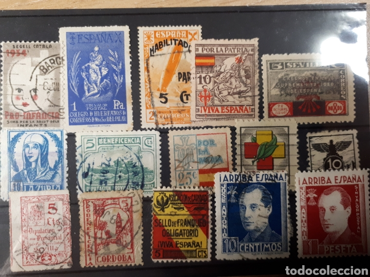 LOTE DE SELLOS INTERESANTES LOTE 62 (Sellos - España - Guerra Civil - Viñetas - Usados)