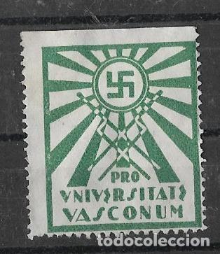 EUZKADI / EUSKADI / P. VASCO . PRO UNIVERSITAS VASCONUM, VERDE (Sellos - España - Guerra Civil - De 1.936 a 1.939 - Nuevos)