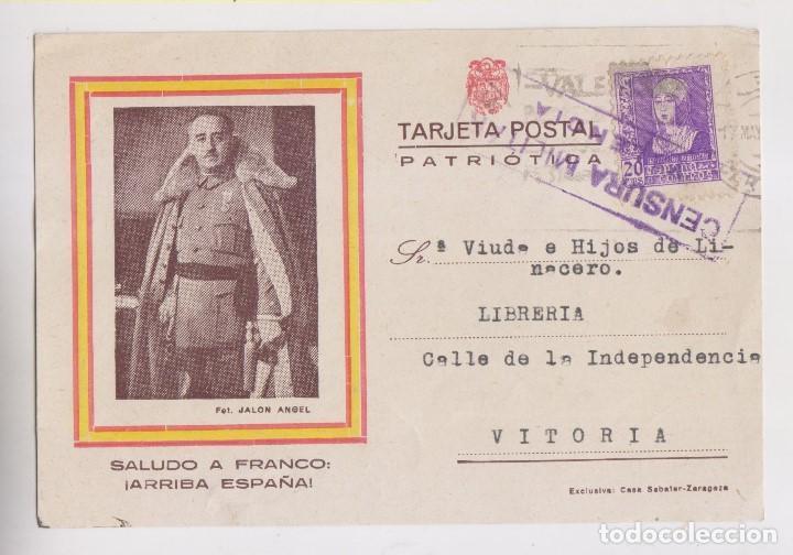 TARJETA ILUSTRADA. VALENCIA A VITORIA. CENSURA MILITAR. 1939 (Sellos - España - Guerra Civil - De 1.936 a 1.939 - Cartas)