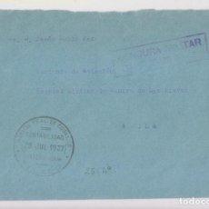Sellos: SOBRE. FRANQUICIA DE CORREOS. TOLEDO A ÁVILA. 1937. CENSURA MILITAR. Lote 165402614