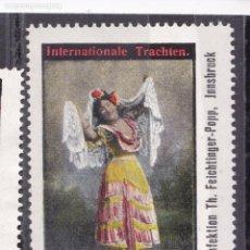 Sellos: XX7-VIÑETA COSTUMBRISTA PROMOCIÓN ESPAÑA EN INNSBRUCK (HACIA 1900) .40 X 60 MM. (*) SIN GOMA . Lote 165556970