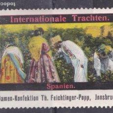 Sellos: XX7-VIÑETA COSTUMBRISTA PROMOCIÓN ESPAÑA EN INNSBRUCK (HACIA 1900) .40 X 60 MM. (*) SIN GOMA . Lote 165557058