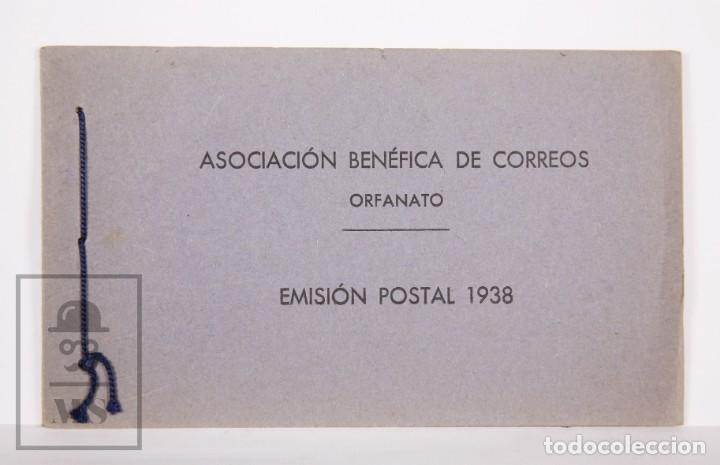 EMISIÓN POSTAL 1938 - ASOCIACIÓN BENÉFICA DE CORREOS. ORFANATO - SERVICIO NACIONAL CORREOS DE ESPAÑA (Sellos - España - Guerra Civil - Beneficencia)