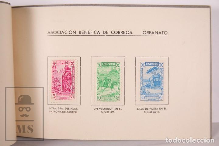 Sellos: Emisión Postal 1938 - Asociación Benéfica de Correos. Orfanato - Servicio Nacional Correos de España - Foto 6 - 165621414