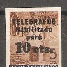 Sellos: BARCELONA TELEGRAFOS EDIFIL 9** SIN DENTAR VALOR DE CATALOGO 140 €. Lote 165636630