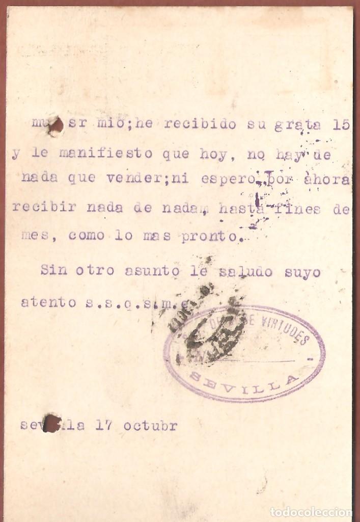 Sellos: Guerra Civil: Tarjeta Postal comercial Sevilla-Aroche (Huelva) - Foto 2 - 165821030
