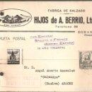 Sellos: GUERRA CIVIL: TARJETA POSTAL COMERCIAL DE DURANGO (VIZCAYA) A AROCHE (HUELVA).. Lote 165824738