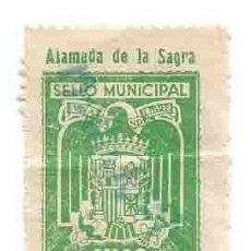 Sellos: ALAMEDA DE LA SAGRA SELLO MUNICIPAL UNA PTA. Lote 165972158