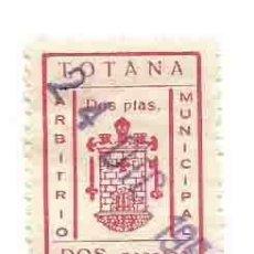 Sellos: TOTANA ARBITRIO MUNICIPAL DOS PESETAS. Lote 166124174