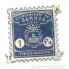 Sellos: AYUNTAMIENTO DE SARRIA LUGO TIMBRE MUNICIPAL 1 PTA. Lote 166124686