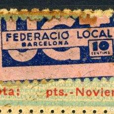 Sellos: ESPAÑA. GUERRA CIVIL. UGT. EDIFIL Nº753A + SELLO FED. LOCAL BARCELONA. Lote 166381858
