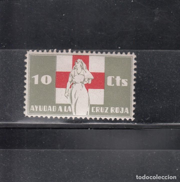 AYUDAD A LA CRUZ ROJA. 10 CTS. (Sellos - España - Guerra Civil - Viñetas - Nuevos)