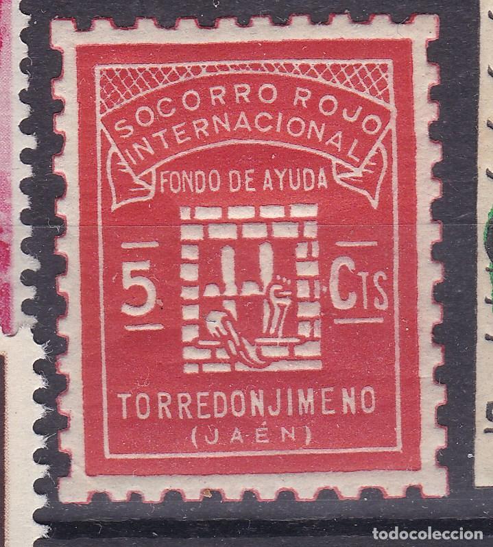 RR12-GUERRA CIVIL LOCALES SOCORRO ROJO TORREDONJIMENO JAÉN ** SIN FIJASELLOS (Sellos - España - Guerra Civil - Viñetas - Nuevos)