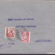 Sellos: F5-3 -CARTA OSUNA (SEVILLA) 1937. FAJA CENSURA EJERCITO DEL SUR. Lote 166562514