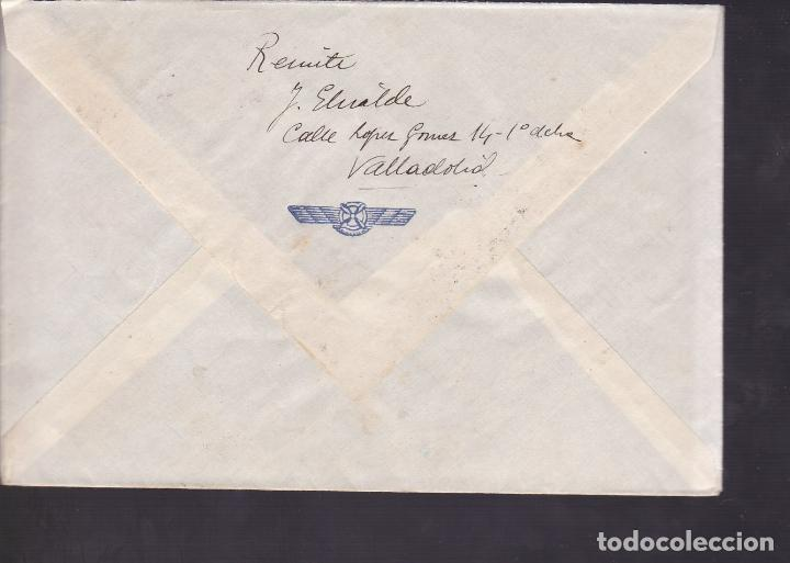 Sellos: F5-5 -Carta VALLADOLID 1937. Auxilio Invierno. Censura . Marca Aviación Remite - Foto 2 - 166566250