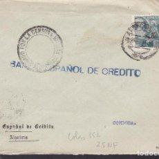Sellos: F5-6 -CARTA ALGECIRAS (CÁDIZ) 1939. LOCAL Y CENSURA . Lote 166566710