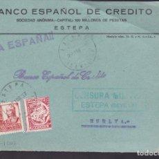 Sellos: F5-7 -FRONTAL ESTEPA SEVILLA 1937. LOCAL Y CENSURA . Lote 166567682