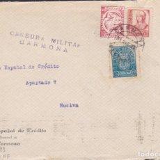 Sellos: F5-8 -FRONTAL CARMONA SEVILLA 1937. , LOCALES SEVILLA Y CARMONA Y CENSURA . Lote 166576666