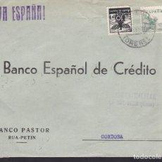 Sellos: F5-9 -CARTA LA RUA-PETIN ORENSE 1937. ,AUXILIO DE INVIERNO Y CENSURA . Lote 166577162
