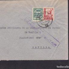 Sellos: F5-11 -CARTA CÁDIZ 1937. LOCAL Y CENSURA . Lote 166577730