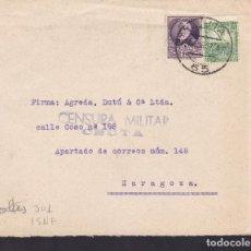 Sellos: F5-12 -CARTA CEUTA 1937. CENSURA . Lote 166577910
