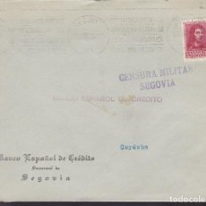 Sellos: F5-12 -CARTA SEGOVIA 1938. CENSURA . Lote 166577922