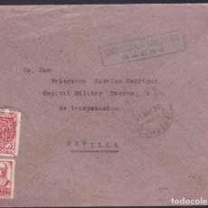 Sellos: F5-18-CARTA BAENA (CÓRDOBA) 1937..LOCAL Y CENSURA . Lote 166579326