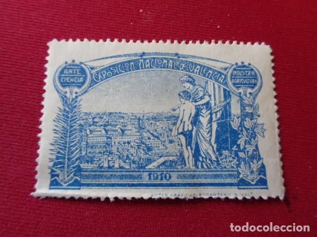 VALENCIA. EXPOSICION NACIONAL DE VALENCIA. 1910. AZUL. (Sellos - España - Guerra Civil - Beneficencia)