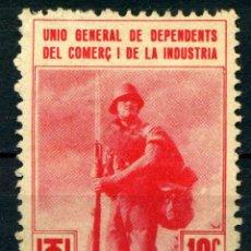 Sellos: ESPAÑA. GUERRA CIVIL. UGT. EDIFIL Nº820. Lote 166784522