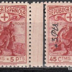 Sellos: ESPAÑA, 1938 EDIFIL Nº 767, 768 /**/, SIN FIJASELLOS, BIEN CENTRADOS. . Lote 166848326