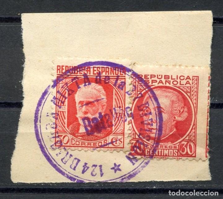GUERRA CIVIL, MATASELLOS MILITAR, 124 BRIGADA MIXTA, 27 DIVISIÓN, BATALLÓN (Sellos - España - Guerra Civil - De 1.936 a 1.939 - Cartas)
