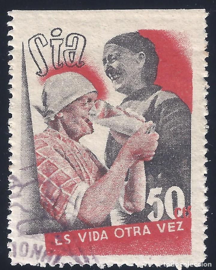 SOLIDARIDAD INTERNACIONAL ANTIFASCISTA. GUILLAMÓN 1627 (VARIEDAD...SIN DENTAR MARGEN). LUJO. MNH ** (Sellos - España - Guerra Civil - Viñetas - Nuevos)