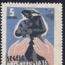 Sellos: SEGELL PRO-REFUGIATS. COMITÉ CENTRAL D'AYUDA ALS REFUGIATS DE CATALUNYA. MH *. Lote 167582388