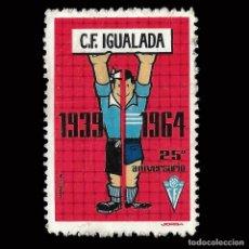 Sellos: VIÑETAS. ESPAÑA. 25º ANIV. CF IGUALADA.1939-1964.NUEVO. CON GOMA.. Lote 167854952