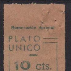 Sellos: BARCELONA, 10 CTS,--PLATO UNICO-- NO CATALOGADO, VER FOTO. Lote 167876080