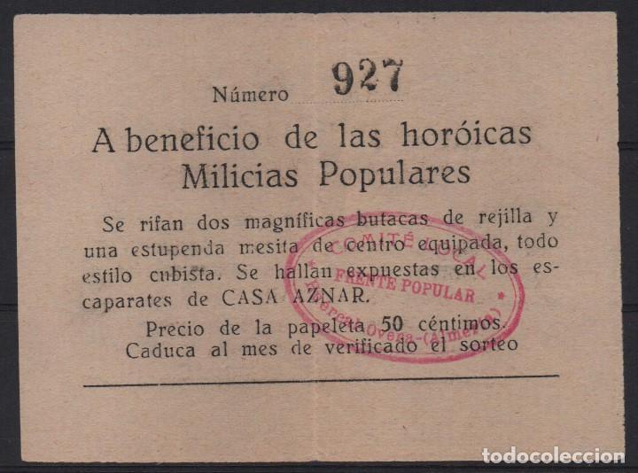 HUERCAL-OVERA- ALMERIA,- FRENTE POPULAR- ERROR-- HOROICAS--- MILICIAS POPULARES, VER FOTOS (Sellos - España - Guerra Civil - De 1.936 a 1.939 - Usados)
