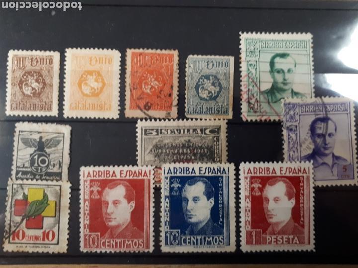 LOTE VARIADO LOT. 68 (Sellos - España - Guerra Civil - Viñetas - Usados)