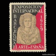 Sellos: VIÑETAS.ESPAÑA.1929 EXPO INTERNACIONAL BARCELONA.EL ARTE EN ESPAÑA. NUEVO.. Lote 167894544