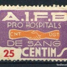 Sellos: ESPAÑA. GUERRA CIVIL. PRO HOSPITALS DE SANG. EDIFIL Nº1045. Lote 168041264