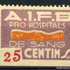 Sellos: ESPAÑA. GUERRA CIVIL. PRO HOSPITALS DE SANG. EDIFIL Nº1049. Lote 168046656