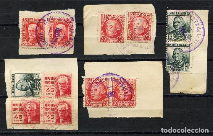 GUERRA CIVIL, SELLOS, MATASELLOS MILITAR, 27 DIVISIÓN, 124 BRIGADA MIXTA, (5) (Sellos - España - Guerra Civil - De 1.936 a 1.939 - Cartas)