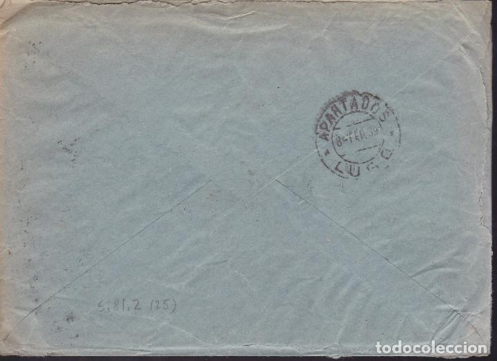 Sellos: CM2-18- Guerra Civil. Carta SARRIA (Lugo) 1939. Local y Censura - Foto 2 - 168205032
