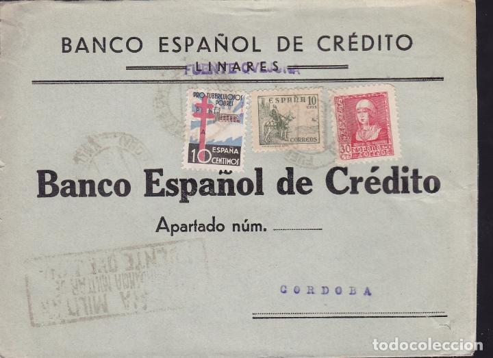 CM2-18- GUERRA CIVIL. CARTA FUENTE OVEJUNA (CÓRDOBA) 1938. TUBERCULOSOS Y CENSURA DE FUENTE OVEJUNA (Sellos - España - Guerra Civil - De 1.936 a 1.939 - Cartas)