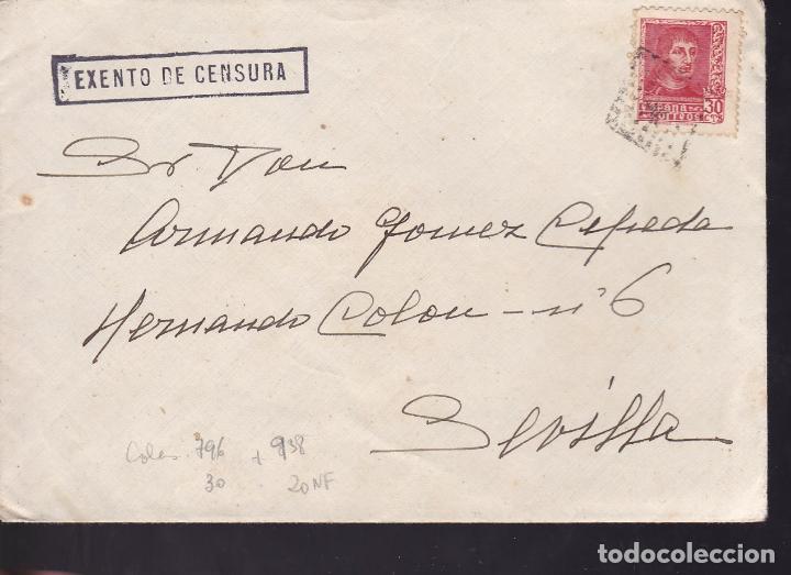 CM2-31- GUERRA CIVIL. CARTA SECRETARIA JEFE ESTADO 1938. EXENTO CENSURA Y MATASELLOS MUDO (Sellos - España - Guerra Civil - De 1.936 a 1.939 - Cartas)